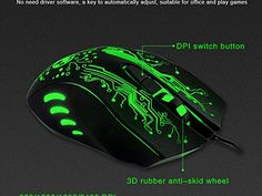 3200DPI LED Optical 6D USB Wired Gaming Game Mouse Pro Gamer Mice For PC H1
