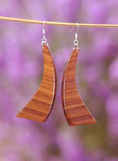 Exotic Beautiful African Padauk Wood Earrings with by EngraveHart, $16.00