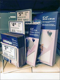 Have a range of sizes to offer? See how FibraTape® offers as a family via a single rack at Shelf Edge. Grouping the offerings together allows direct comparison of size and even encourages upsell. Encouragement, Patches, Retail, Pos, Shelf, Packaging, Range, Display, Design