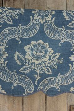 French Antique Indigo Resist Pattern Early 20th Century