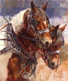 Tableau cheval de trait 4 926799964407a7cfae38219212264532 horse paintings animal paintings