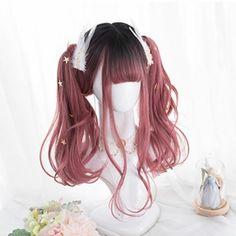 Kawaii Hairstyles, Wavy Bob Hairstyles, Cute Hairstyles, Pelo Lolita, Lolita Hair, Anime Wigs, Anime Hair, Anime Makeup, Henna Designs