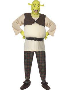 Shrek. Shrekin naamiaisasu tekee kantajastaan hyväsydämisen jättiläisen. Naamiaisasuun kuuluu myös kasvomaski ja käsineet, joten naamiaisasussa voi olla ihonväriään myöten Shrek.