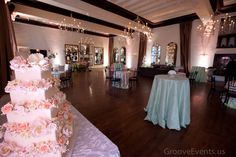 Ballroom Overview #weddings #events #cake #pink #pastels