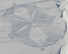 Simon Beck's snow art