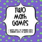 This product contains two math games requiring the students to match numbers in standard form to word form and vice versa.This is aligned to Comm...