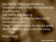 Love this African proverb.  Thank you Trini!
