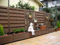 Diy home decor « Decor Diy Best Privacy Fence Landscaping, Garden Privacy, Backyard Fences, Outdoor Landscaping, Planter Beds, Outdoor Projects, Outdoor Decor, Diy Home Decor, Google Search