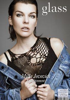 Glass Magazine - Enlightenment - Autumn 2016 (US Cover) featuring Milla Jovovich wearing Alexander Wang  Rings by De Beers & Maison Martin Margiela Photographer Bojana Tatarska