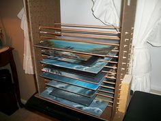 Art Storage Rack For Painters Easy To Build Page 4 Wetcanvas Studio Storage Solutions Photography Studio Storage Ideas Art Studio Storage Ideas Art Studio Storage, Art Supplies Storage, Art Studio Organization, Art Storage, Paper Storage, Storage Rack, Storage Ideas, Storage Solutions, Rack Shelf