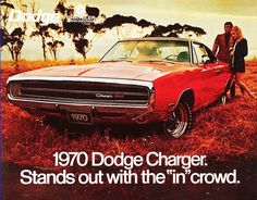 1970 Dodge Charger  Love these ads