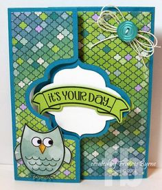 Created by Frances Byrne using The Stamps of Life's Morechalkingsayings2stamp  and Sizzix Elegant Flip-its Card Framelits.