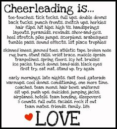 Cheerleading is. My life. I love cheer and my team we've gone though a lot together Cheer Coaches, Cheer Stunts, Cheer Dance, Team Cheer, Cheer Flyer, Cheer Tryouts, Cheer Qoutes, Cheerleading Quotes, Cheer Sayings