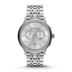 Sale 	 	Classic Watch In classic stainless steel, this style makes a chic statement. A coin-edge topring and a sleek…