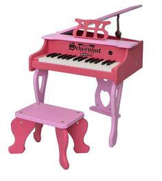30-Key Two-Tone Pink Digital Baby Grand Piano