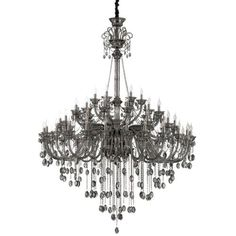 Eurofase Lighting 23129 Venetian 54 Light 70-1/2 Wide Taper Candle Chandelier with Crystal Accents