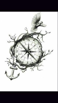 50 Best Compass Tattoo Designs and Ideas | Tattoos | Pinterest ...