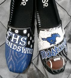 Friendswood High School Hand Painted Tom s by TouchOfJoyDesigns Hand  Painted Toms b4dd58d71