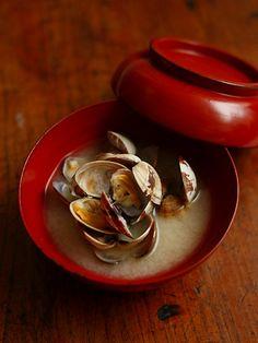 はまぐりの味噌汁(Miso soup of a hard clam )