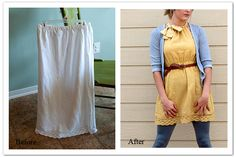 skirt to dress DIY Tutorial