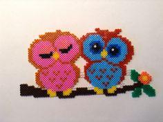 Owls hama perler beads by Helle Petersen