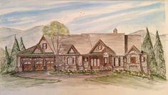Big Canoe House Plaln for Luxury Lakefront custom floor plan home building | Elegant House Plans