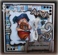 Smee from Peter Pan Collection by Kraftin' Kimmie Stamps Design by Sharon Caudle