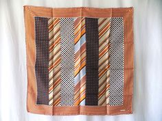 ECHO Silk Scarf Menswear Inspired from Saks Fifth Avenue, Made in Italy in Fall Palette by EyeSpyGoods on Etsy