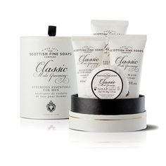 The Scottish Fine Soaps Luxury Gift Set is the perfect way to treat that special someone. Featuring all your favourite products from the Classic Male Grooming Collection. Male Grooming, Grooming Kit, Soap Net, Mens Soap, Soap Company, Mens Essentials, After Shave, The Balm, Classic