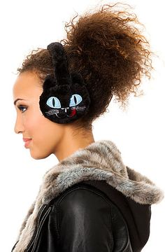 The Cozy Black Cat Earmuffs by *MKL Accessories
