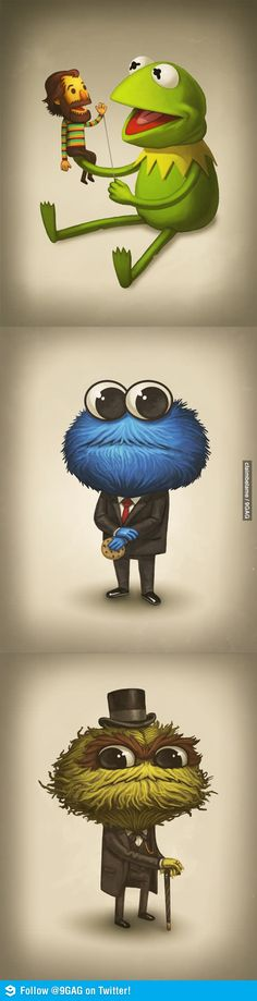 Hey there's more to this picture! Tribute to Jim Henson by Mike Mitchell