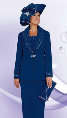 ebony ladies dress suits | Plus Size Church Suits for Women BenMarc 3pc Suit 4442 image