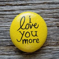 I Love You More Painted Rock, Decorative Accent Stone, Paperweight by HeartandSoulbyDeb on Etsy Rock Painting Patterns, Rock Painting Ideas Easy, Rock Painting Designs, Pebble Painting, Pebble Art, Stone Painting, Painted Rocks Craft, Hand Painted Rocks, Painted Pebbles