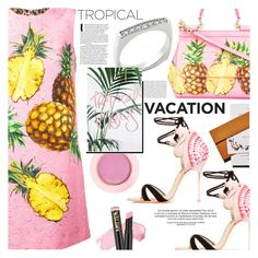 """""""Anastazio-Welcome to Paradise: Tropical Vacation"""" by anastazio-kotsopoulos ❤ liked on Polyvore featuring Dolce&Gabbana, Sophia Webster, Anastazio and L.A. Girl"""