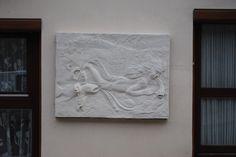 Après cinq jours de travail sur le mur  à voir sur Ornans ville Gustave Courbet Réalisation Gustave Lafond