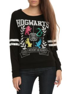 Harry Potter Hogwarts Girls Pullover Top. I want I want!!!!