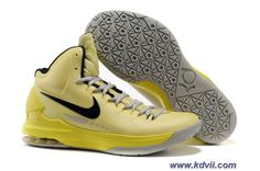 ID Tartrazine Yellow Black 554988 700 Nike Zoom KD V Sale