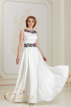 Indian Gowns Dresses, Mexican Dresses, African Fashion Dresses, Wedding Dress Brands, Boho Wedding Dress, Wedding Dresses, Embroidery Fashion, Embroidery Dress, Traditional Mexican Dress