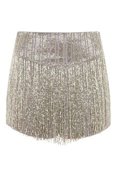 Silver sequin shorts with fringe detail. This is the perfect party piece, a dazzling statement. Kpop Fashion Outfits, Stage Outfits, Girl Fashion, Womens Fashion, Sequin Shorts, Fringe Shorts, Glitter Shorts, Jean Délavé, Estilo Indie