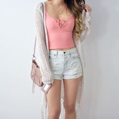 Bust: / Length: / Material: Cotton Feel: Stretchy, sturdy and soft Cute Summer Outfits, Outfits For Teens, Pretty Outfits, Stylish Outfits, Fall Outfits, Cute Outfits, Cute Fashion, Teen Fashion, Fashion Outfits