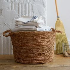 Coiled Rope Laundry Basket by West Elm