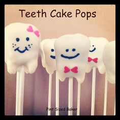 How To Make Teeth Cake Pops...perhaps the Tooth Fairy will bring sweet treats this year?!  :)