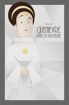 FACES OF KAAMELOTT SERIE - La Reine Guenièvre