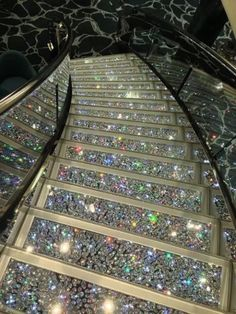 If i envision my stairway to heaven. Glitter Stairs, Glitter Walls, Glitter Floor, Sparkles Glitter, Glitter Grout, Glitter Paint, Stairway To Heaven, Stairway Art, House Goals