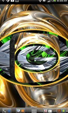 Revision 3 Green Logo Android Wallpaper HD