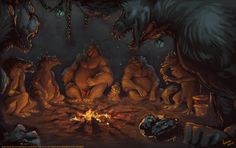 Baudrons Gathering by ashley-lee on deviantART Ashley Lee, Fuzzy Wuzzy, Big Guys, Story Inspiration, Cool Art, Creatures, Deviantart, Fantasy, Drawings
