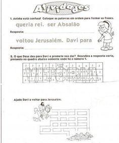 Atividades para Gincana Bíblica para crianças | Na Internet