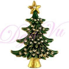 Crystal Christmas Tree Brooch Pin Pendant Made with Swarovski Elements | eBay