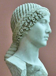 Portrait head in marble of a young woman with an elaborate hairstyle of curls and braids. From the Sanctuary of Diana at Nemi. Sculpture Museum, Sculpture Art, Roman Hairstyles, Diana, Statues, Sea Drawing, Historical Hairstyles, Rome Antique, Roman Sculpture