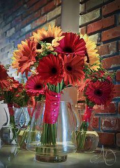 sunflower gerbera daisy bouquet